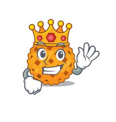 King pumpkin pie in a character jar vector