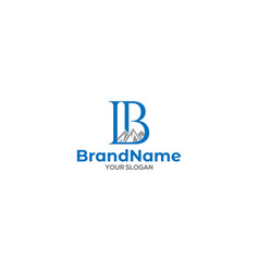 Lb mountain logo design vector