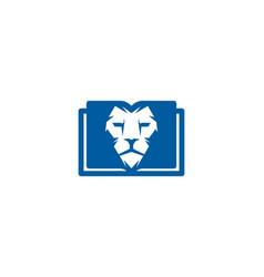 lion book logo icon design vector image