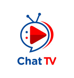Logo chat tv vector