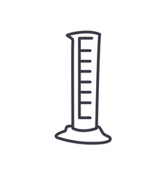 Measuring cylinder icon line style vector