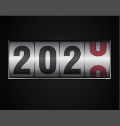Mechanical counter showing 2020 vector