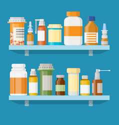 modern interior pharmacy or drugstore vector image