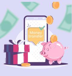 Money transfer social media post mockup financial vector