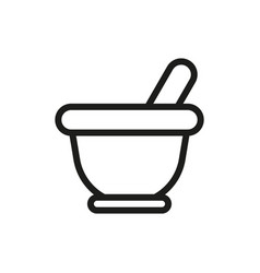 mortar icon on white background vector image
