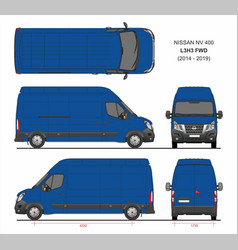 Nissan nv400 cargo delivery van l3h3 fwd 2014-2019 vector