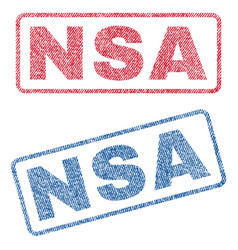 Nsa textile stamps vector
