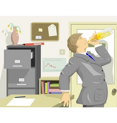 office drinker vector image