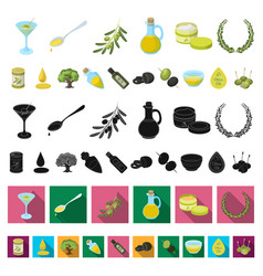 olive food cartoon icons in set collection for vector image