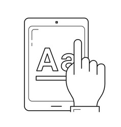 online education app line icon vector image
