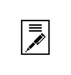 paper business contract pen signature flat vector image