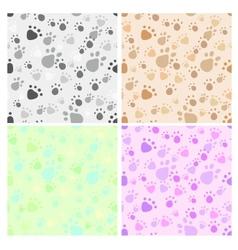 Pet legs imprint seamless set vector