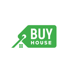 price tag label sale buy house home property logo vector image