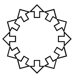 Radial Arrows Thin Line Icon vector
