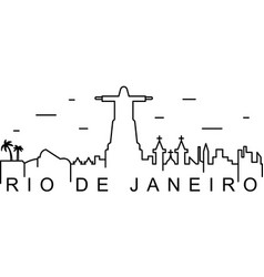 rio de janeiro outline icon can be used for web vector image