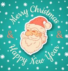 Santa retro and snow vector