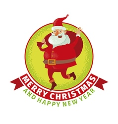 Santa with big bag vector image