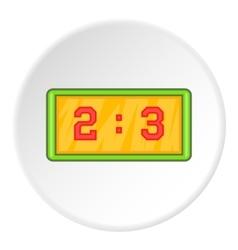 Scoreboard icon cartoon style vector