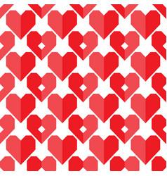 seamless geometric heart pattern vector image vector image