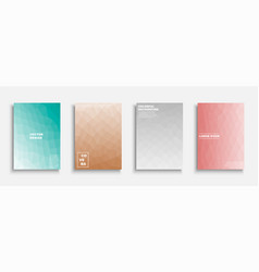 set colorful gradient abstract covers vector image