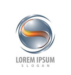 shiny swirl s letter concept design symbol vector image