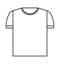 Shirt clean isolated icon vector