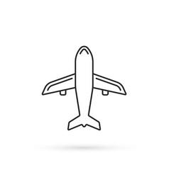 simple thin line plane black icon vector image