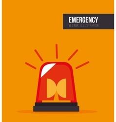 siren alarm emergency equipment vector image