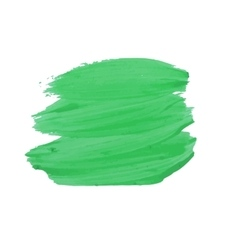 Smear green paint vector