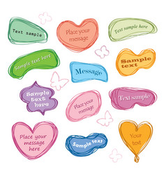 Speech bubble set chat icon paper sheet for note vector