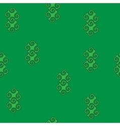 Spiral abstract green seamless pattern vector image