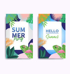 Summer poster festival with circle composition of vector