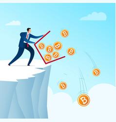 throw away bitcoin currency saving vector image