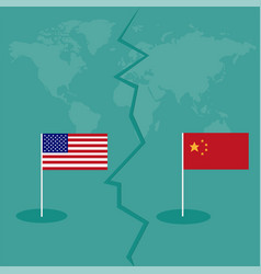 trade war america china tariff business global vector image