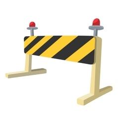 Traffic barrier cartoon icon vector