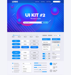 ui kit for websiteui kit for website temlate vector image