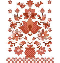 ukrainian traditional flowers vector image
