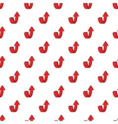 Up arrow pattern cartoon style vector image