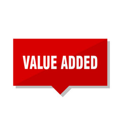 value added red tag vector image