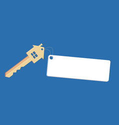 with house keys and tag with space for text vector image