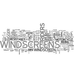 With or without motorcycle windscreens text word vector