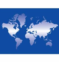 world map blue vector image
