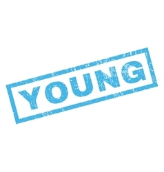 Young Rubber Stamp vector