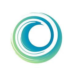 Zen curl wave symbol vector