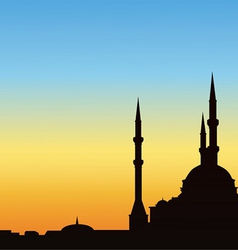 Ancient mosque against the blue sky vector image vector image