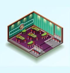 casino hall isometric interior vector image vector image