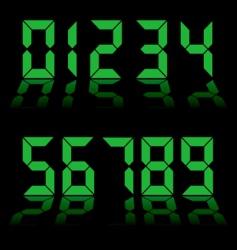 digital clock vector image vector image