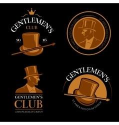 Elite mens club vintage labels vector image