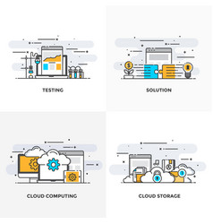flat line designed concepts 9-colored vector image
