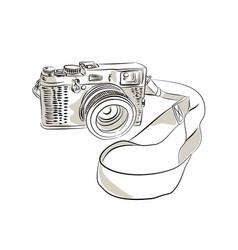 35mm slr film camera drawing vector image vector image